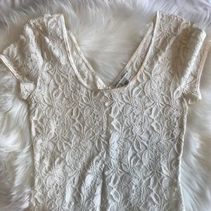 Banana Republic Lace Tee